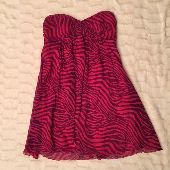 Lilly Pulitzer Zebra Print Strapless Dress XXS
